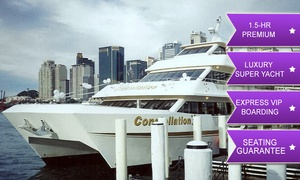 Constellation Cruises: Constellation Cruises: From $20 for 90-Min Superyacht Vivid Cruise, Guaranteed Seating, Express Boarding, Arrival Drink