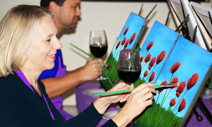 Paints Uncorked - San Diego: Admission for One or Two to a Three-Hour Social Painting Event from Paints Uncorked (Up to 51% Off)