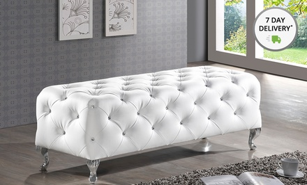 Stella Tufted Bench or Weimans Tufted Mirror. Multiple Colors Available.