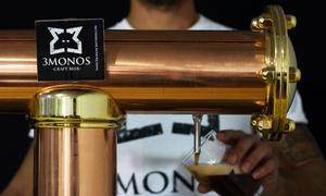 3Monos Craft Beer: Tour guiado para 2, 4 o 6 personas con cata y botella de cerveza artesanal desde 12,95 € en 3Monos Craft Beer