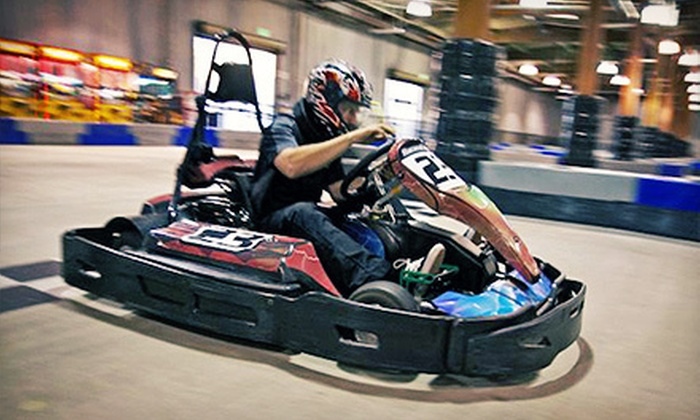 Racer's Edge Indoor Karting - Burbank: $44 for Four 16-Lap Go-Kart Races at Racer's Edge Indoor Karting ($92 Value)