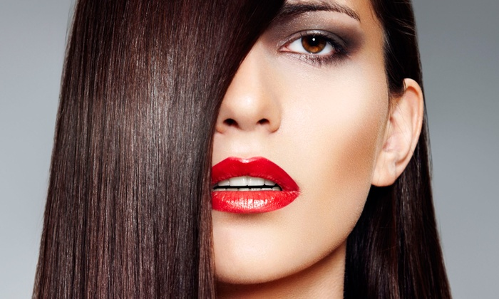 GlamVie - Sheepshead Bay: Brazilian Blowout Straightening Treatment with Optional Haircut at Glamvie (Up to 57% Off)