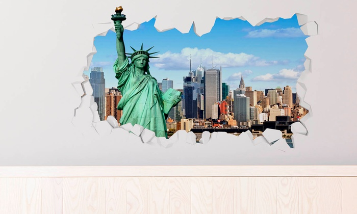 D Effect Wall Decals Groupon Goods - 3d effect wall decals