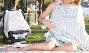 2-in-1 Baby Car Seat Cover and Nursing Cover-Up Apron