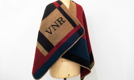 $94.99 for a Custom Monogrammed Poncho from Social Monograms ($188 Value)