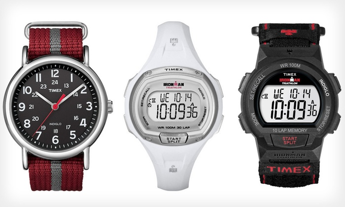 Timex Men's, Women's, and Unisex Watches: Timex Men's, Women's, and Unisex Watches (Up to 64% Off). Sixteen Options Available. Free Shipping and Free Returns.