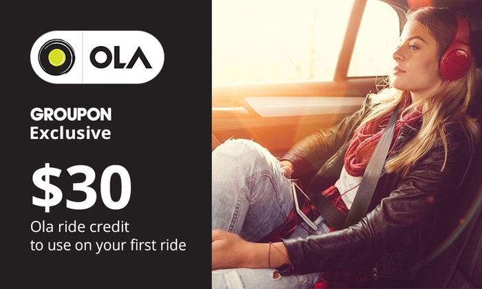 Ola: $30 Off First Ride