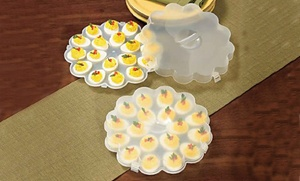 Deviled-Egg Tray Set with Snap-On Lids at Deviled-Egg Tray Set with Snap-On Lids, plus 9.0% Cash Back from Ebates.