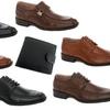 Franco Vanucci Mens' Dress Shoes and Free Wallet
