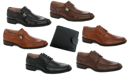 Franco Vanucci Mens' Dress Shoes and Free Wallet