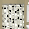 Multi-Colored PEVA Shower Curtains with Metal Roller Hooks