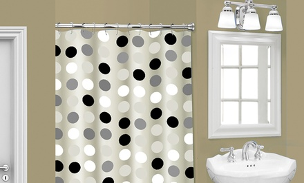 Multi-Colored PEVA Shower Curtains with 12 Metal Roller Hooks. Multiple Colors Available. Free Returns.