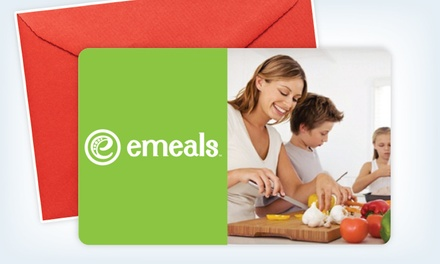 $29 for an eGift Card for a 12-Month Online Meal Plan from eMeals ($58 Value)