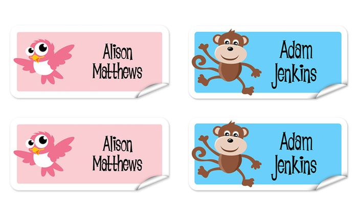 Up To 77% Off on Personalized Kids' Name Labels | Groupon Goods
