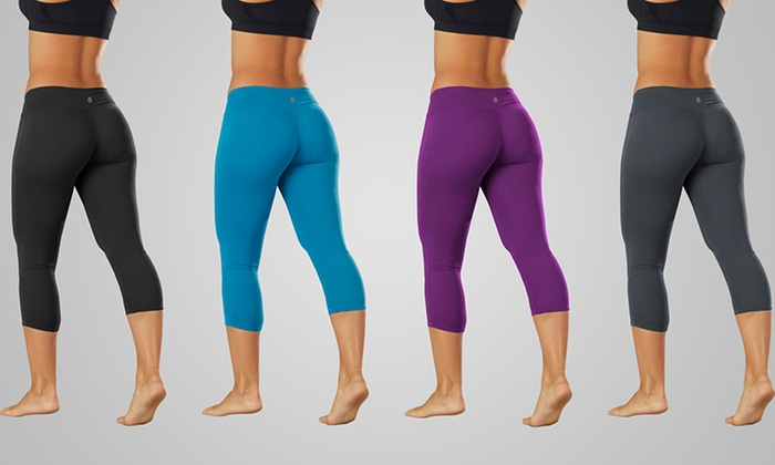 Bally Total Fitness Performance Capri Leggings: Bally Total Fitness Performance Capri Leggings. Multiple Colors Available. Free Shipping and Returns.