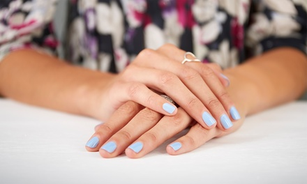 Two Manicures or One Mani-Pedi from Megha at Salon Lux (50% Off)