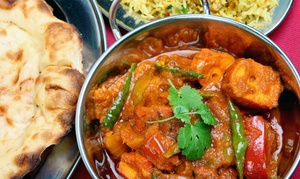 Streets Of India Cafe: Vegan and Vegetarian Indian Fare and Drinks at Streets of India Café (40% Off). Two Options Available.