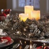 Holiday Centerpiece LED Wreath with Flameless Candles