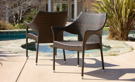 Set of 2 Del Mar Outdoor Wicker Armchairs