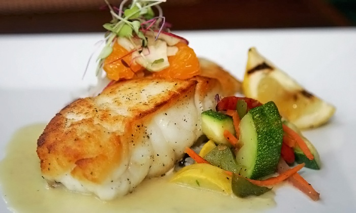 Ocean 60 - Atlantic Beach: Fresh Seafood, Continental Cuisine, and More at Ocean 60 (Up to Half Off). Two Options Available.