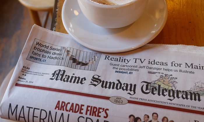 Maine Sunday Telegram - Portland, ME: 12-, 26-, or 52-Week Subscription to The Maine Sunday Telegram (Up to 54% Off)