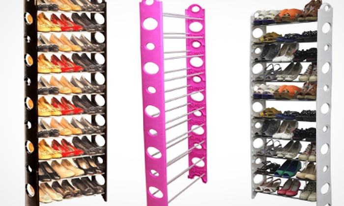 Groupon Goods Global GmbH: 10-Tier Shoe Rack for £14.99 With Free Delivery  (50% Off)