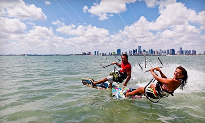 Miami Kiteboarding - Crandon Park: $49 for Semiprivate Introduction to Kiteboarding Lesson for One from Miami Kiteboarding ($100 Value)