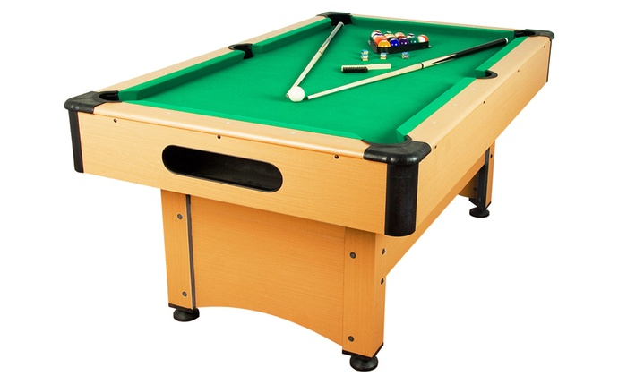 Pool billardtisch inkl zubeh r groupon goods for Pool holzdekor