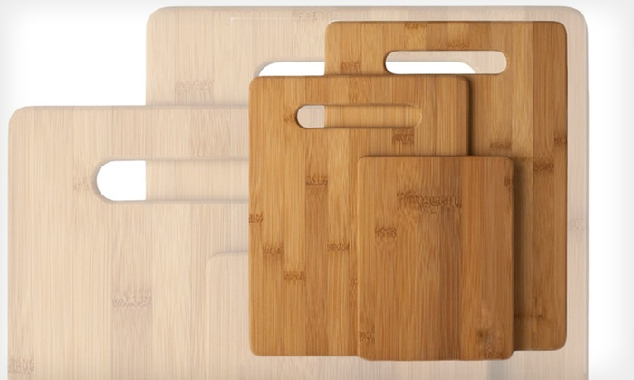 3-Piece Bamboo Cutting-Board Sets: $14.99 for a 3-Piece Rectangular or Paddle-Shaped Bamboo Cutting-Board Set ($39 List Price). Free Returns.