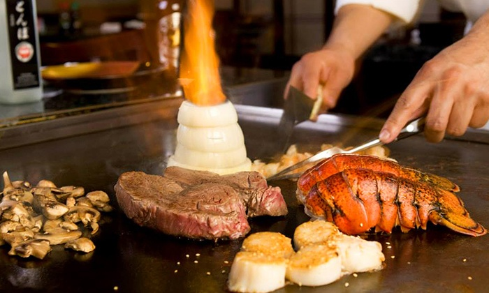 Domo 77 and Japan 77 - Multiple Locations: $22 for $40 Worth of Hibachi Food and Sushi at Domo 77 and Japan 77