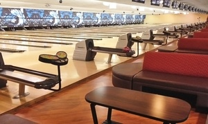 Strikers Family Sportscenter: $26 for Two-Hours of Bowling for Up to Five with a Large Pizza (Up to $74.15 Value)