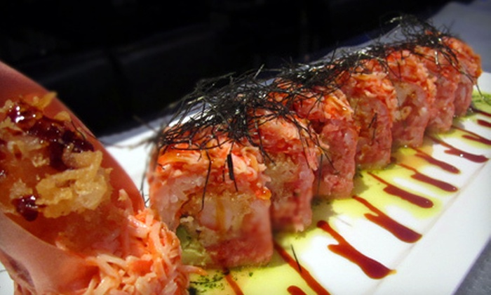 Blue Fish Japanese Restaurant and Lounge - Hicksville: Sushi and Beer or Sake for Two or Four at Blue Fish Japanese Restaurant (Up to 64% Off)