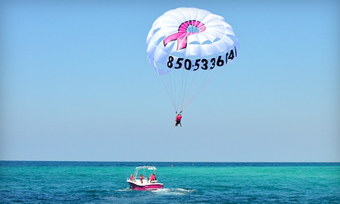 Flamingo Parasail - Miramar Beach: $39 for a One Seat in a Double Parasail from Flamingo Parasail ($80 Value)