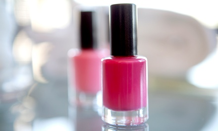 $40 for a Shellac or Vinylux Mani-Pedi at Nails By Jacqui at Bellezza Mia Spa ($95 Value)