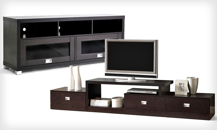 Baxton Studio Modern TV Stands: Baxton Studio Modern TV Stand (Up to 70% Off). Two Options Available. Free Shipping and Free Returns.