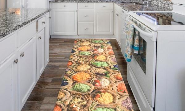 Tappeto Passatoia Per Cucina Con Stampa Digitale E Fondo Antiscivolo Disponibile In Varie Dimensioni E 4 Fantasie