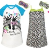 Star Ride Girls' Nightgown and Sleep-Mask Sets
