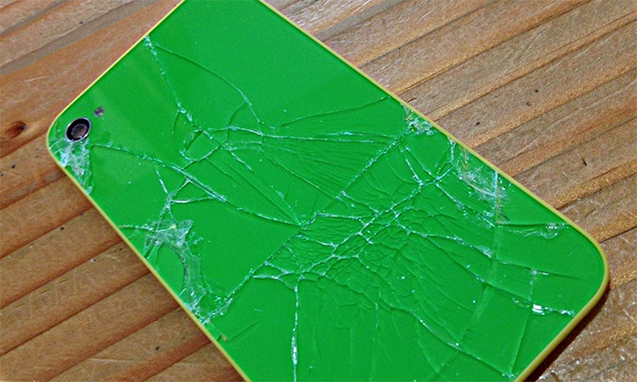 iDope Customs - Belltown: Broken Back-Glass Repair for iPhone, or an iPhone or iPad Case at iDope Customs (50% Off)