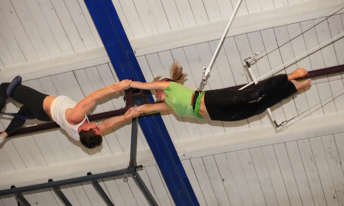 Trapeze Arts - West Oakland: $45 for One Flying Trapeze Class and One Trampoline or One Aerial Arts Class at Trapeze Arts ($80 Value)