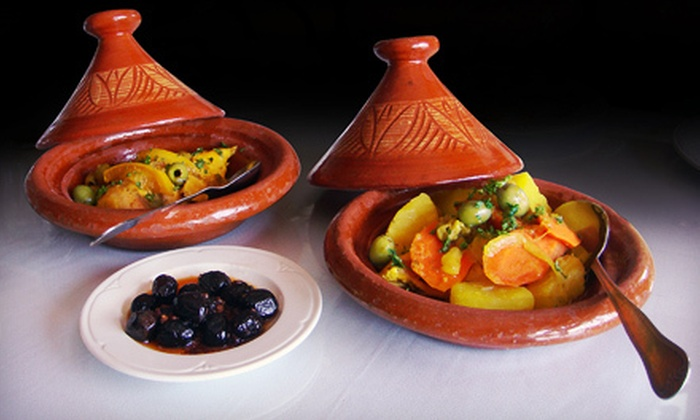 Taste of Morocco - Lyon Village: Moroccan Food at Taste of Morocco (Half Off). Two Options Available.
