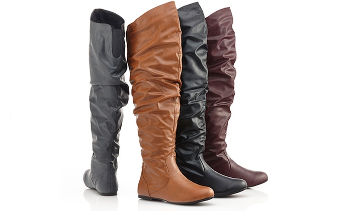 Carrini Over the Knee Slouchy Boots: $29.99 for Carrini Over the Knee Slouchy Boots ($79 List Price). Multiple Options Available. Free Shipping and Returns.