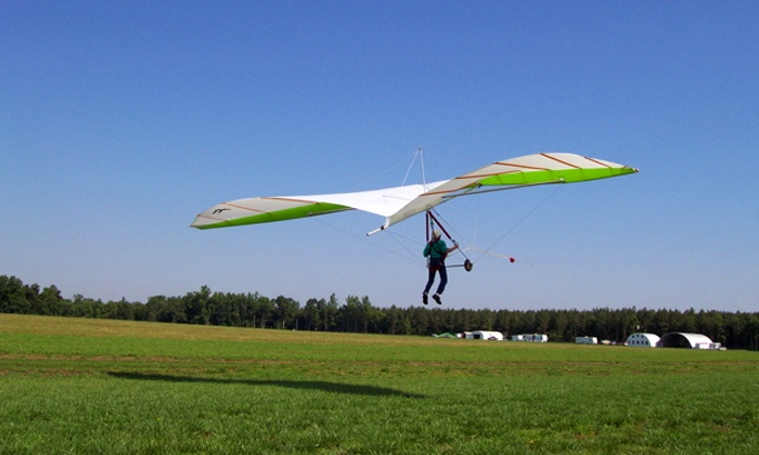 Blue Sky Virginia Hang Gliding - Manquin: Beginner Hang-Gliding Lesson for One or Two at Blue Sky Virginia Hang Gliding (50% Off)