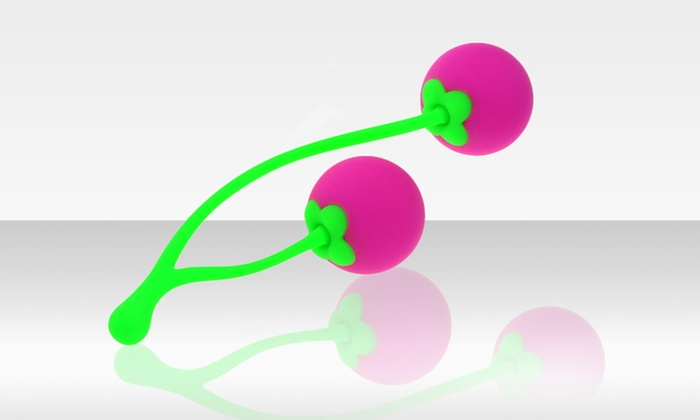 Cherry-Shaped Kegel Exercisers: 100% Silicone Weighted Cherry-Shaped Silicone Kegel Exercisers