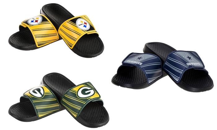 NFL Officially Licensed Velcro Sport Slide Sandals
