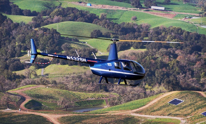 Sonoma Helicopter  - Multiple Locations: $249 for a Helicopter Ride and Wine Tasting at Clos du Bois for Two from Sonoma Helicopter ($550 Value)