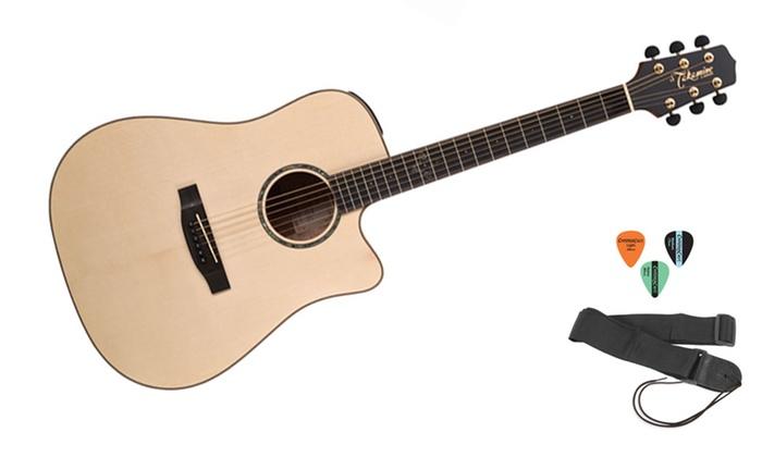 takamine dreadnought cutaway acoustic electric guitar kit eg363sc groupon. Black Bedroom Furniture Sets. Home Design Ideas