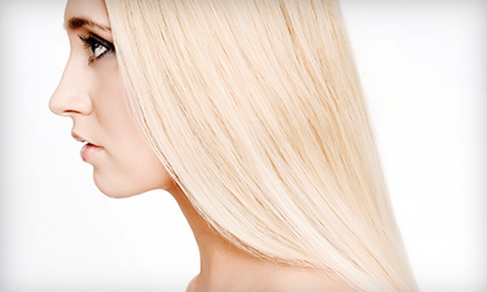 Andrew Young at Salon 206 - Stuart: Cut, Blow-Dry, and Deep Conditioning with Option for Partial Highlights from Andrew Young at Salon 206 (Up to 58% Off)