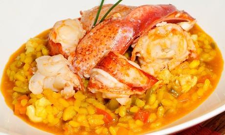 Menú de arroz con bogavante para 2 o 4 con entrante, postre y bebida o botella de vino desde 29,95 € en Berlanga's