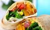 Menu wrap ou salade à emporter