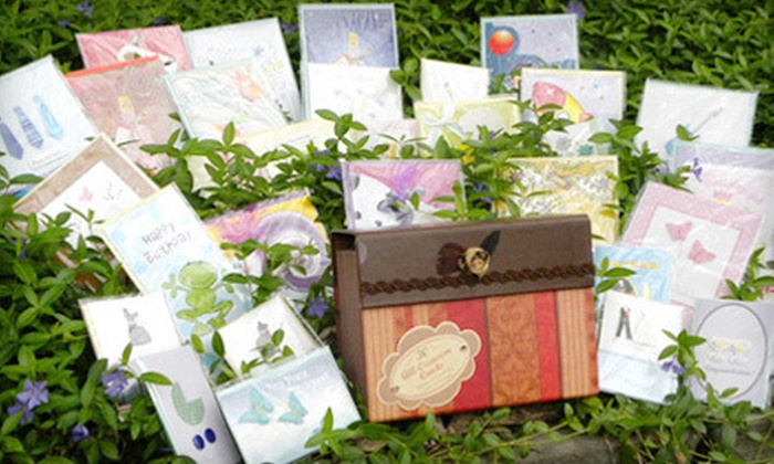 All-Occasion Greeting Cards: $19 for 30 Embellished All-Occasion Greeting Cards with a Green and Gold or Orange and Brown Keepsake Box ($90 List Price). Shipping Included.